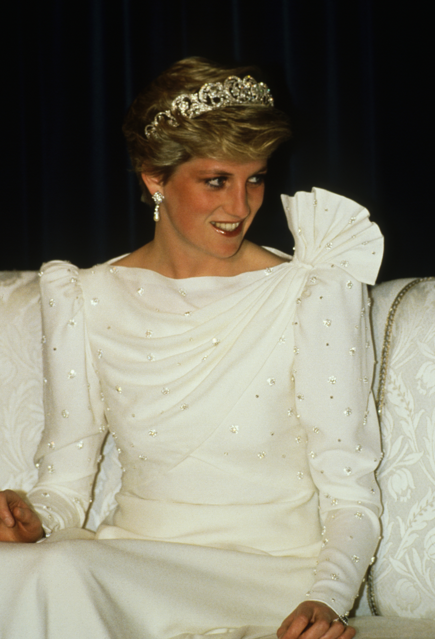 Princesa Diana, Diana de Gales, estilo, vestido, vestido blanco