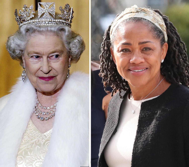Reina Isabel II Doria Ragland madre de Meghan Markle