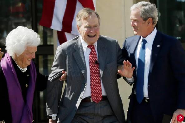 Barbara Bush, George H.W. Bush and George W. Bush