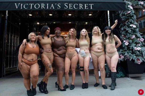 Victoria's Secret protestors in London