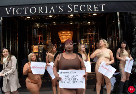 Victoria's Secret protestors in London