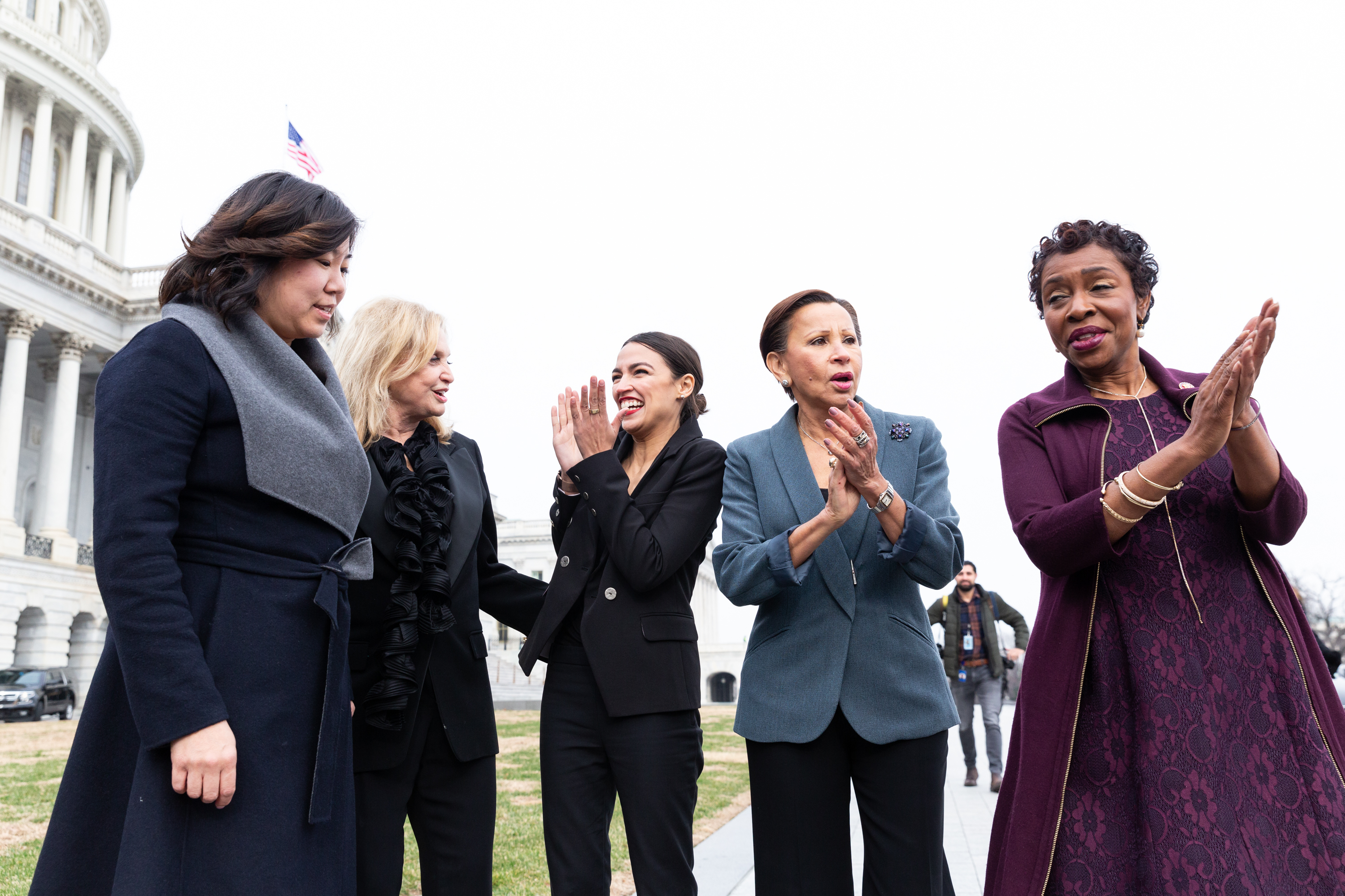 Grace Meng, Carolyn Maloney, Alexandria Ocasio-Cortez, Nydia Velázquez, and Yvette Clarke