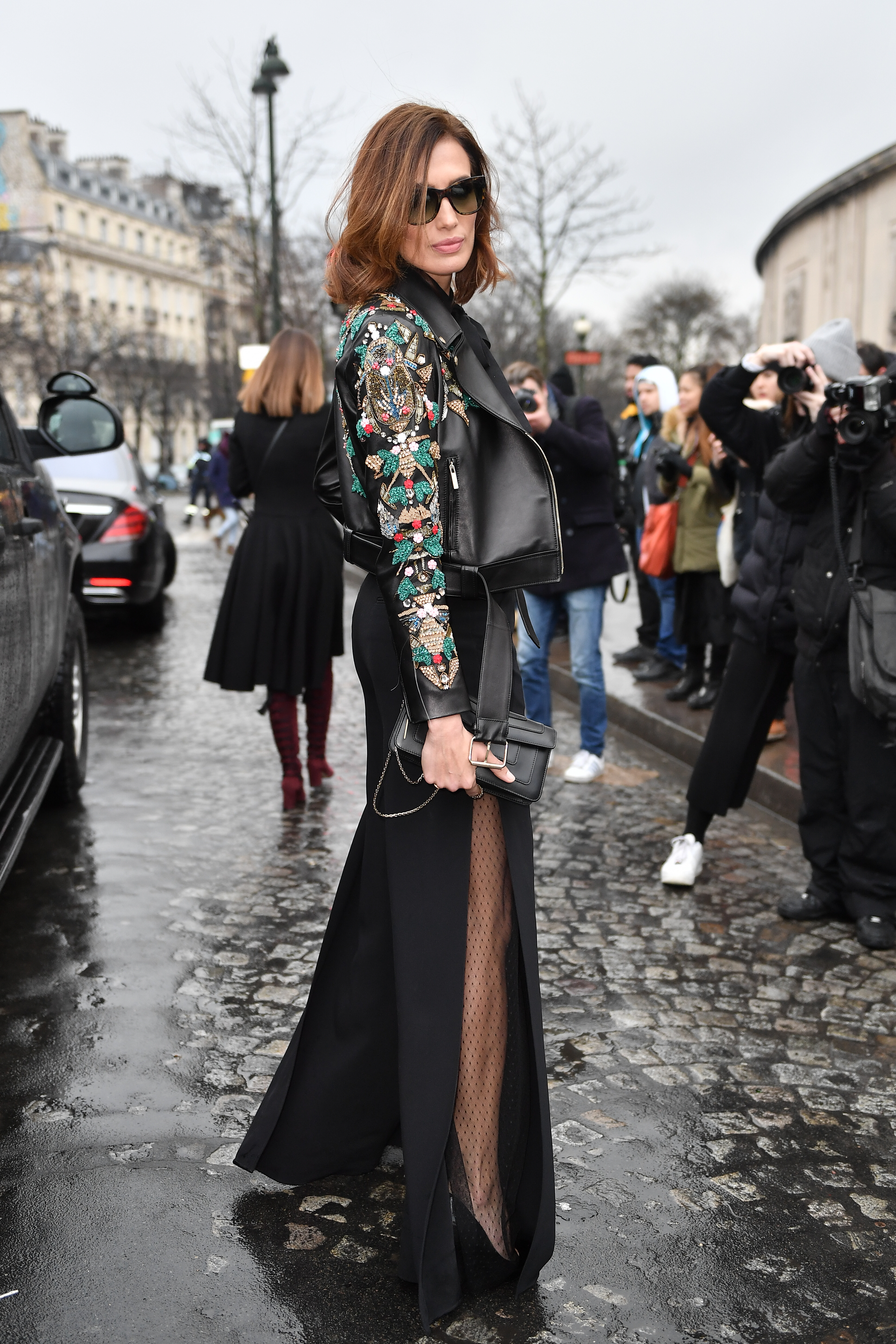 Celebrity Sightings - Paris Fashion Week - Haute Couture Spring Summer 2020 : Day Three