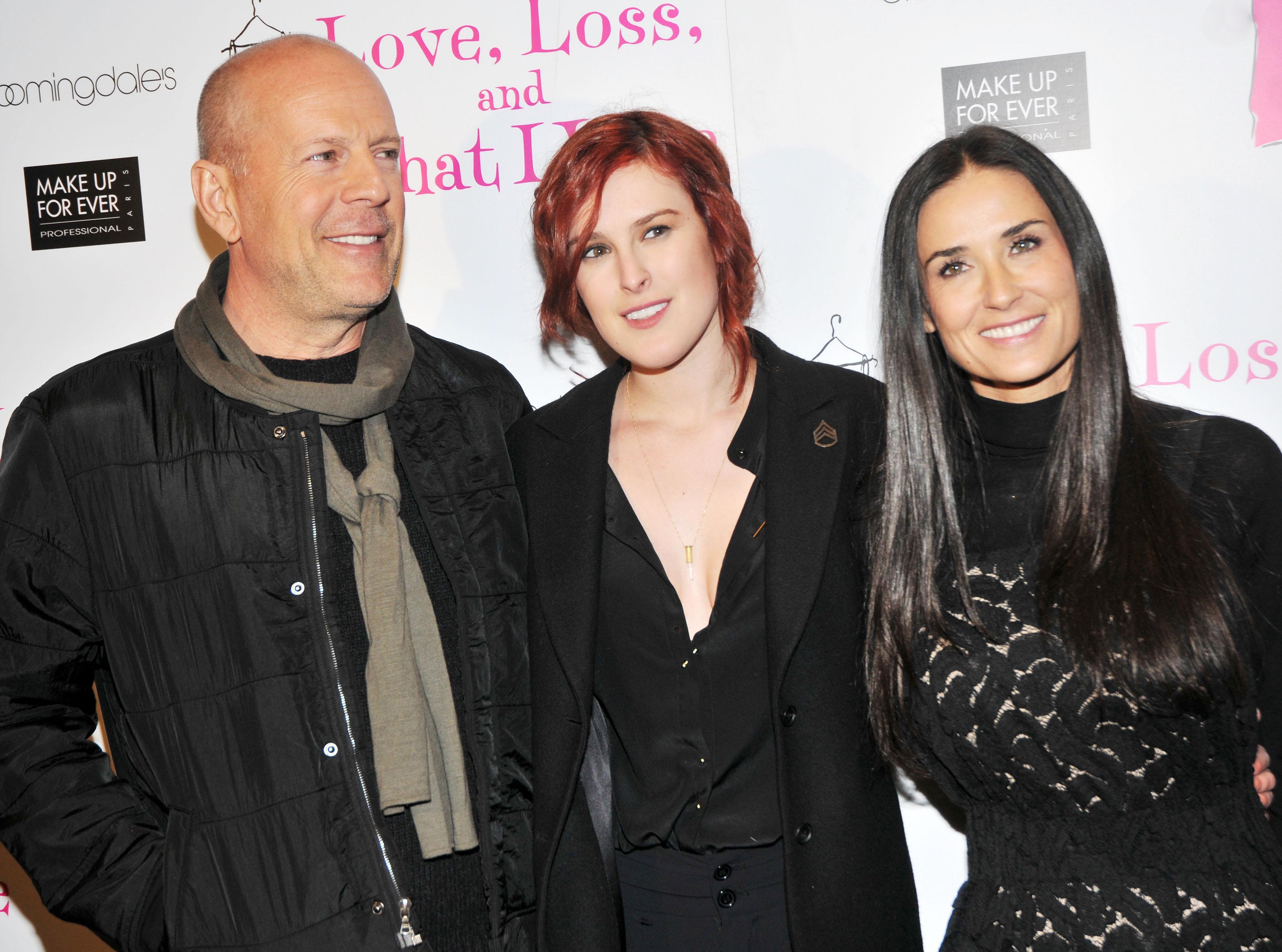 Bruce Willis y Demi Moore, Rumer Willis