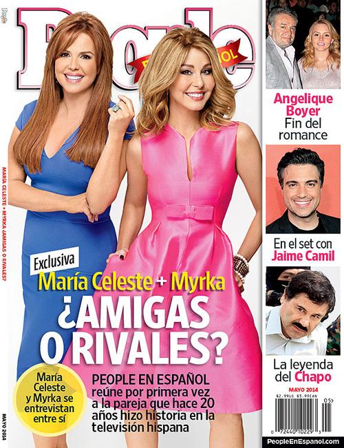 María Celeste Arrarás y Myrka Dellanos, portada People en Español mayo 2014
