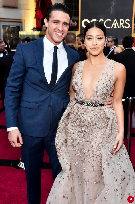 Joe Locicero and Gina Rodriguez. Charles Sykes/Invision/AP/REX/Shutterstock