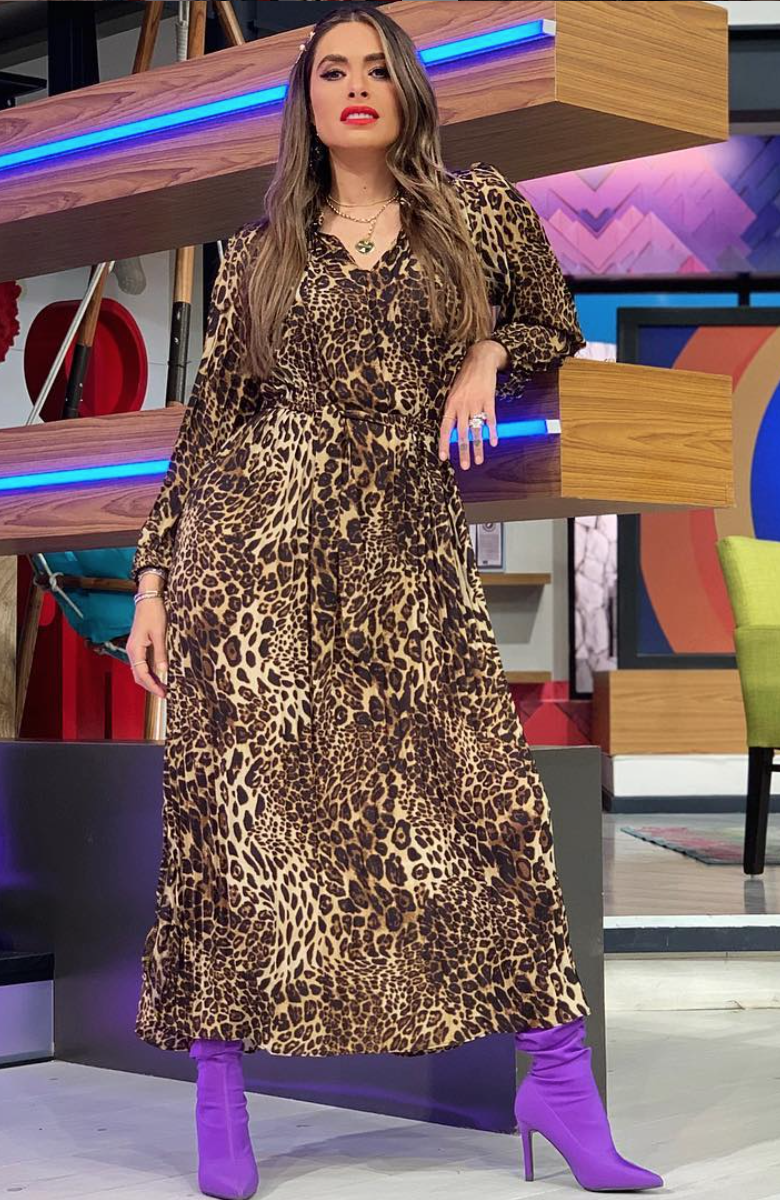 Galilea Montijo, animal print, leopardo, estilo, ootd