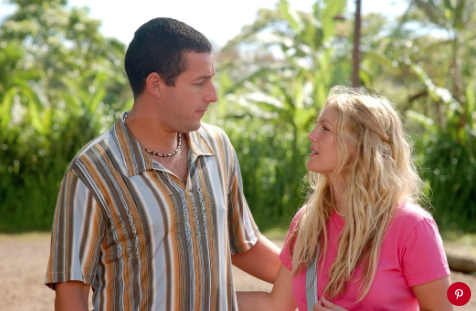 Adam Sandler and Drew Barrymore in '50 First Dates'