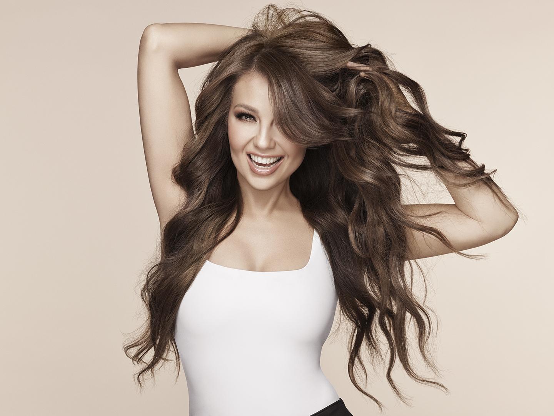 Thalía, productos de belleza, cabello