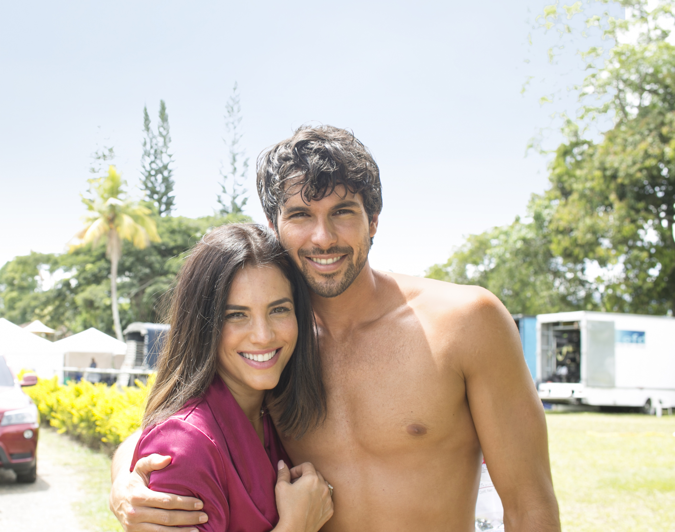 Gaby Espino y Jason Day