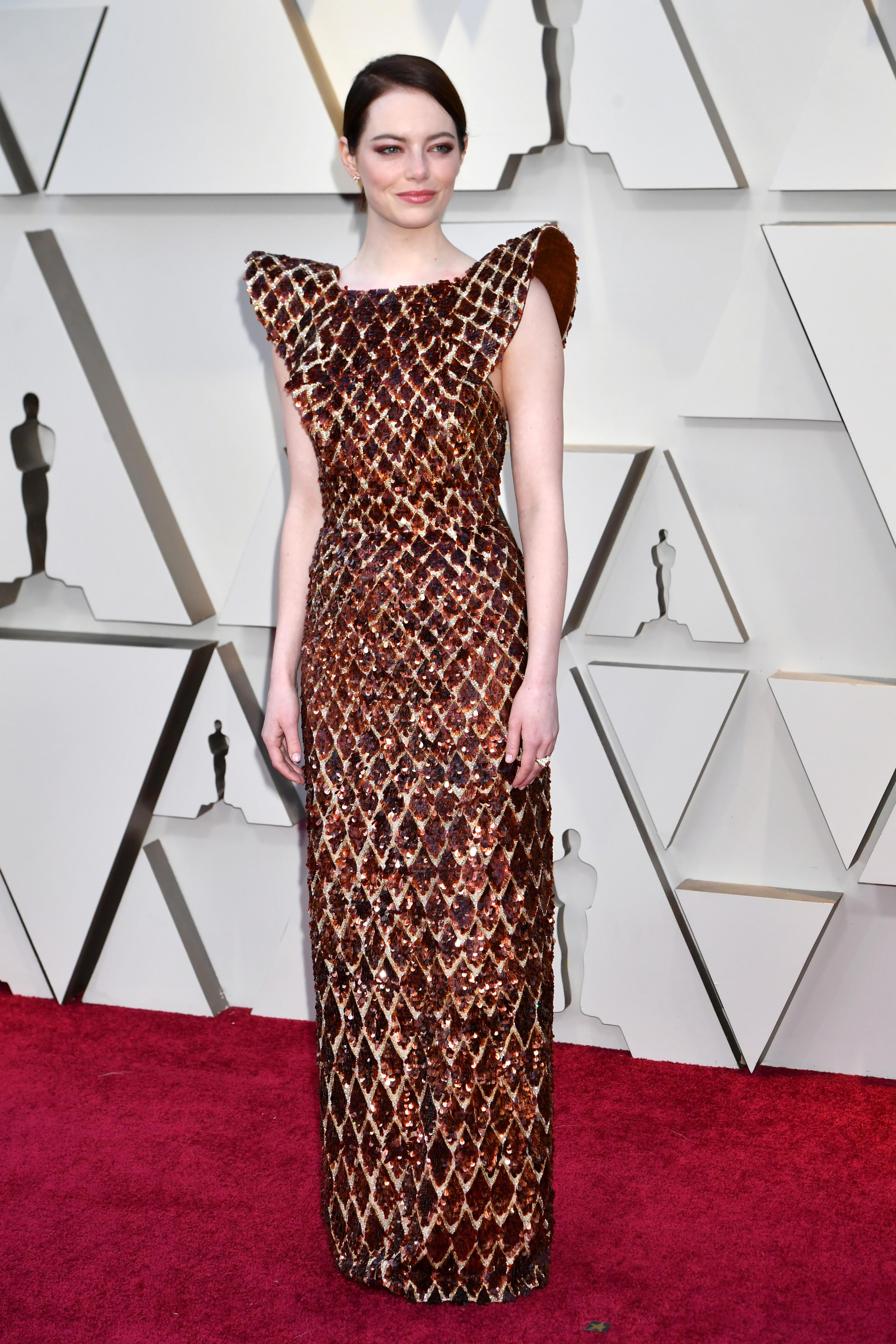 Emma Stone, look, premios Oscar, 2019