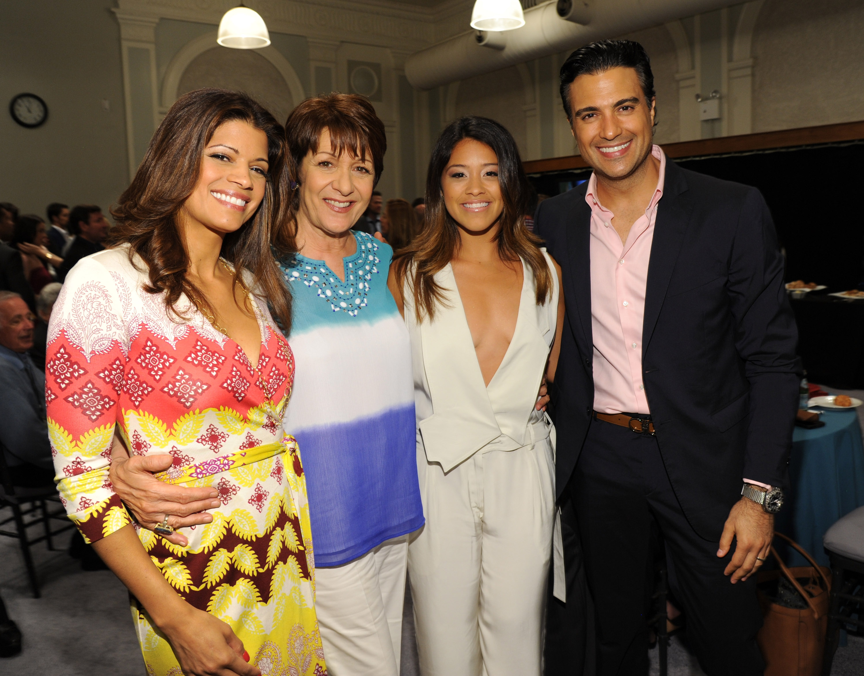 Andrea Navedo, Ivonne Coll, Gina Rodriguez and Jaime Camil
