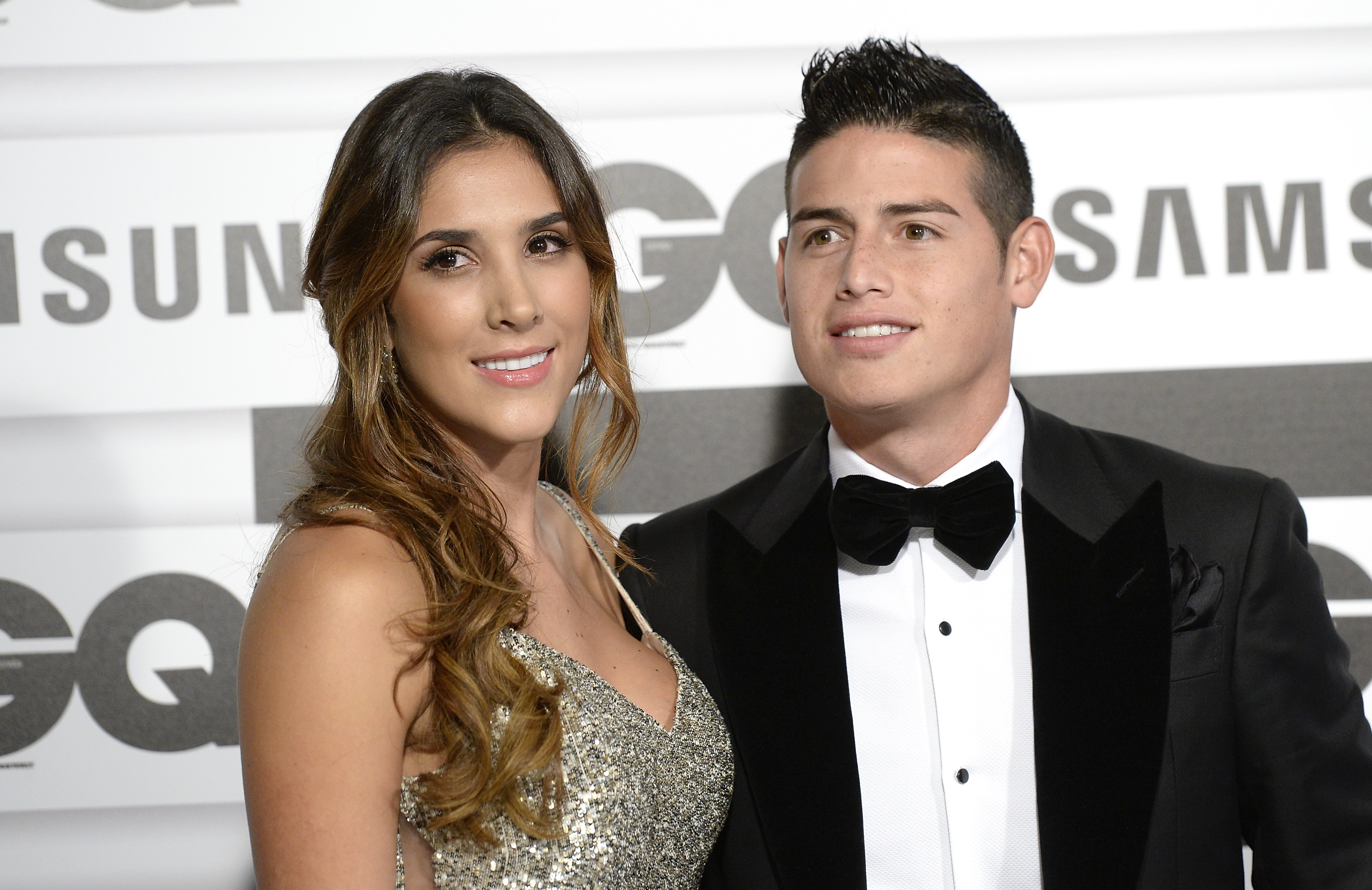 Daniela Ospina and James Rodríguez