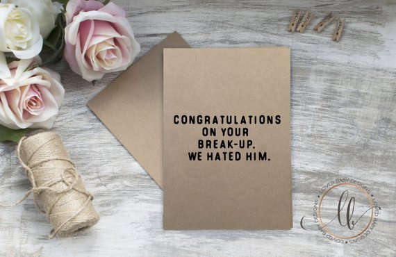 Breakup Congratulations Card