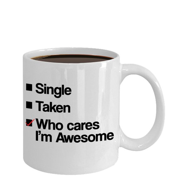 Witty Single Valentine's Day Coffee Mug