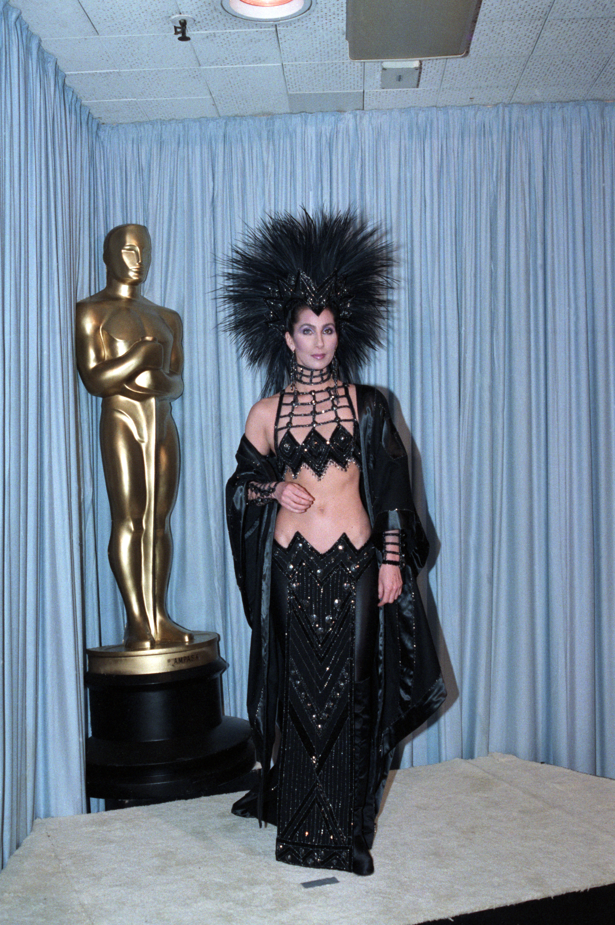 Cher Backstage at Academy Awards
