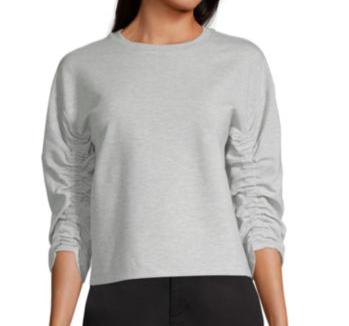 Worthington Womens Round Neck Long Sleeve Sweatshirt