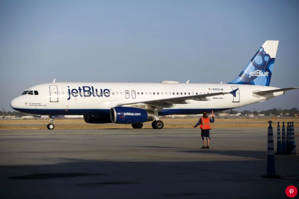 JetBlue airplane. Photo: Patrick T. Fallon/Bloomberg/ Getty Images