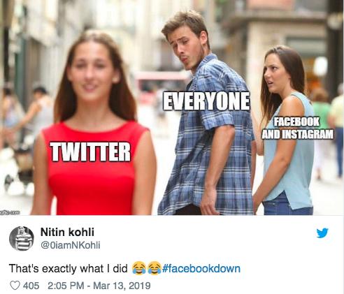 Facebook down memes10