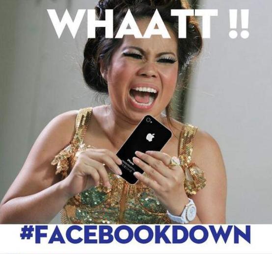 Facebook down memes3