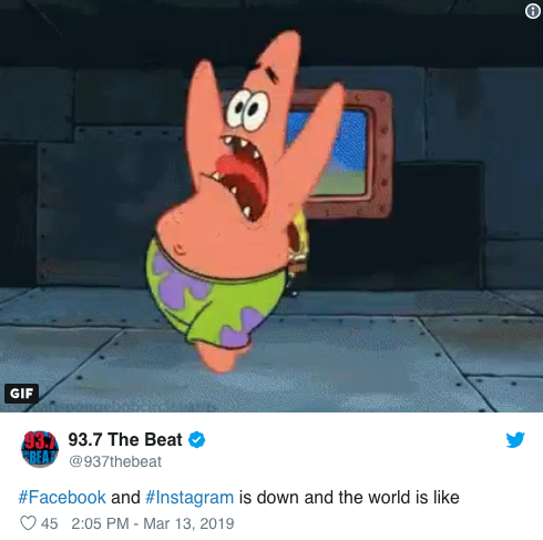 Facebook down memes7