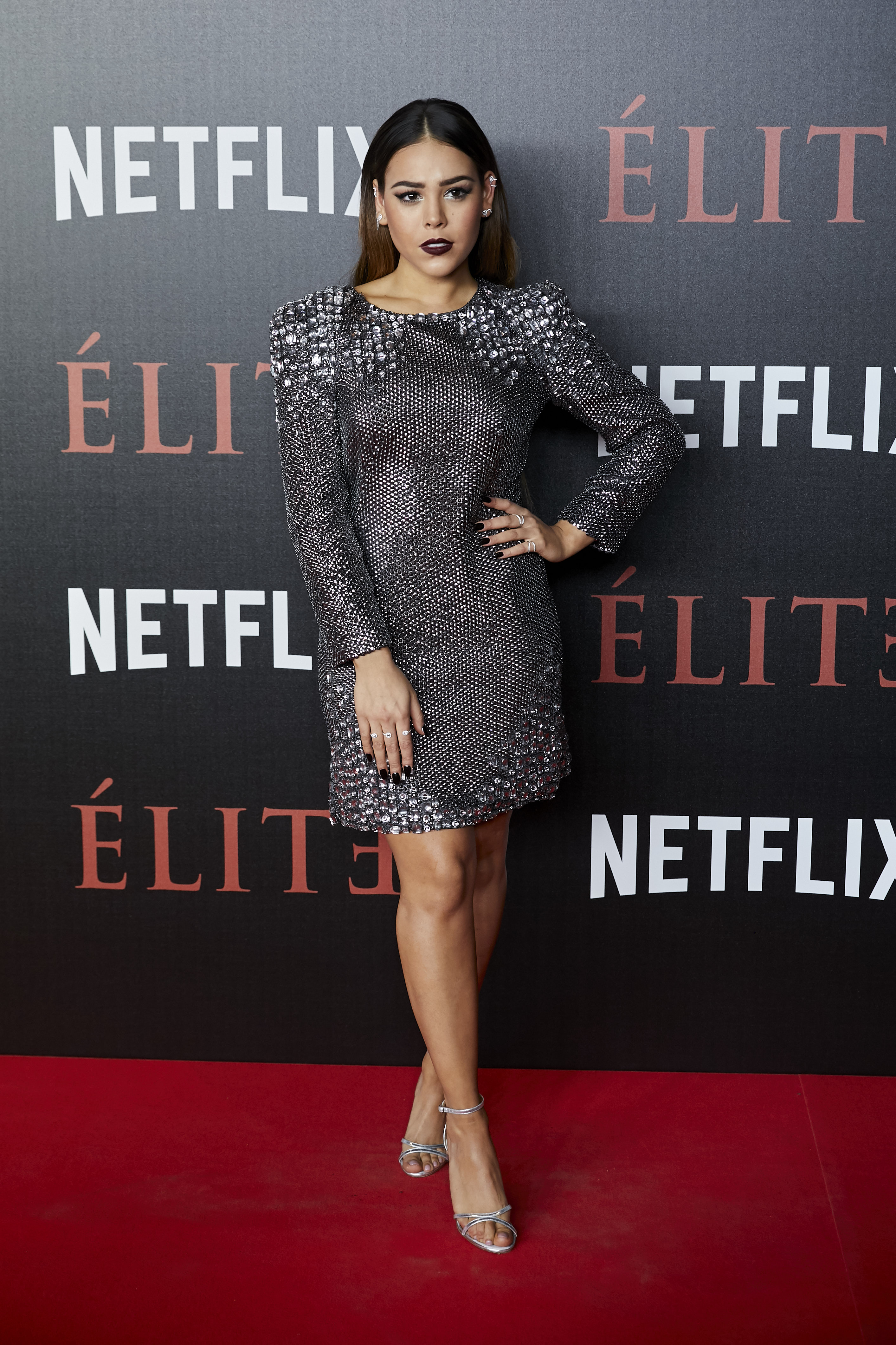 Danna Paola attends to 'Elite' premiere at Museo Reina Sofia