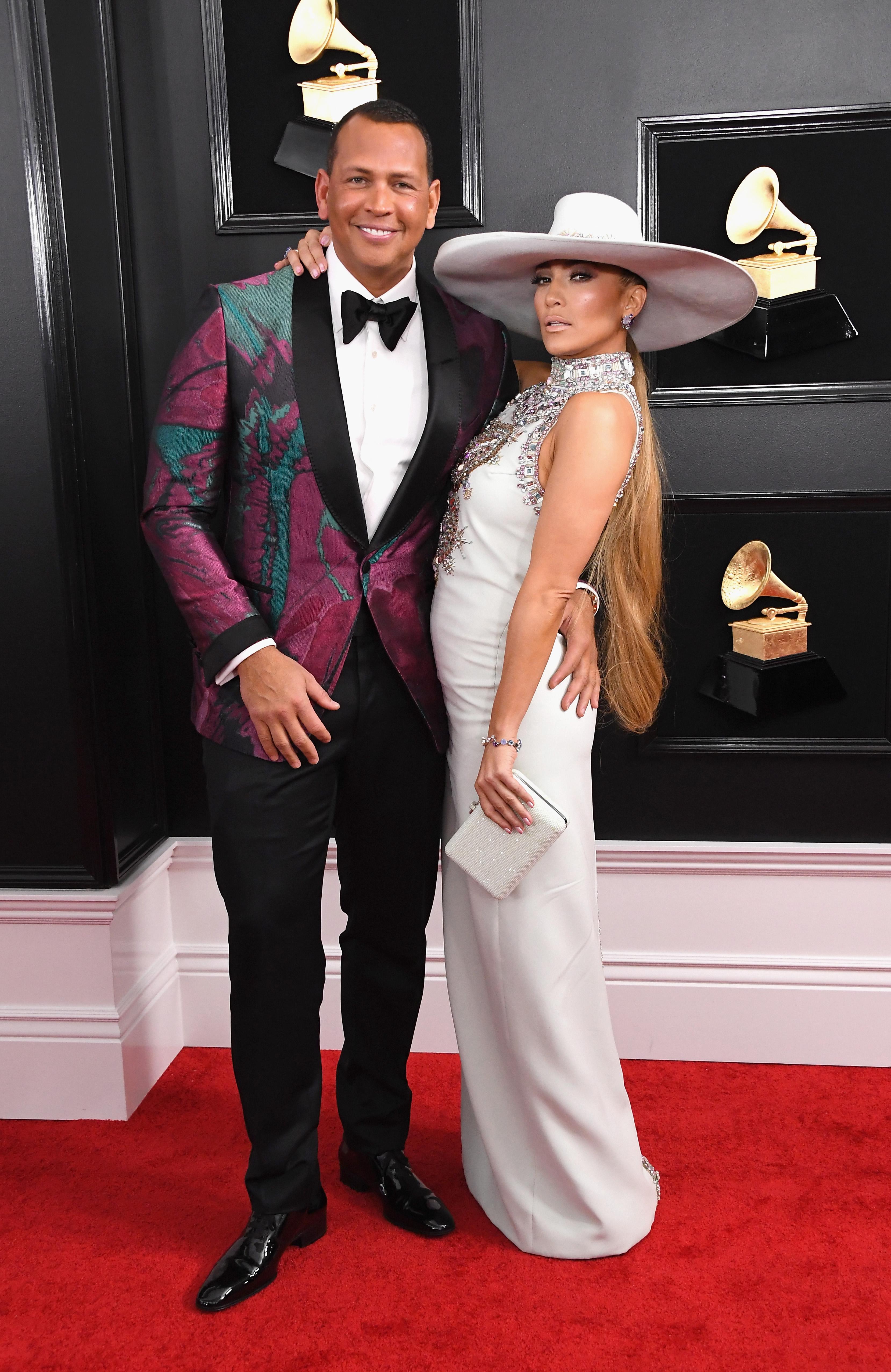 Alex Rodriguez and Jennifer Lopez, Grammy 2019