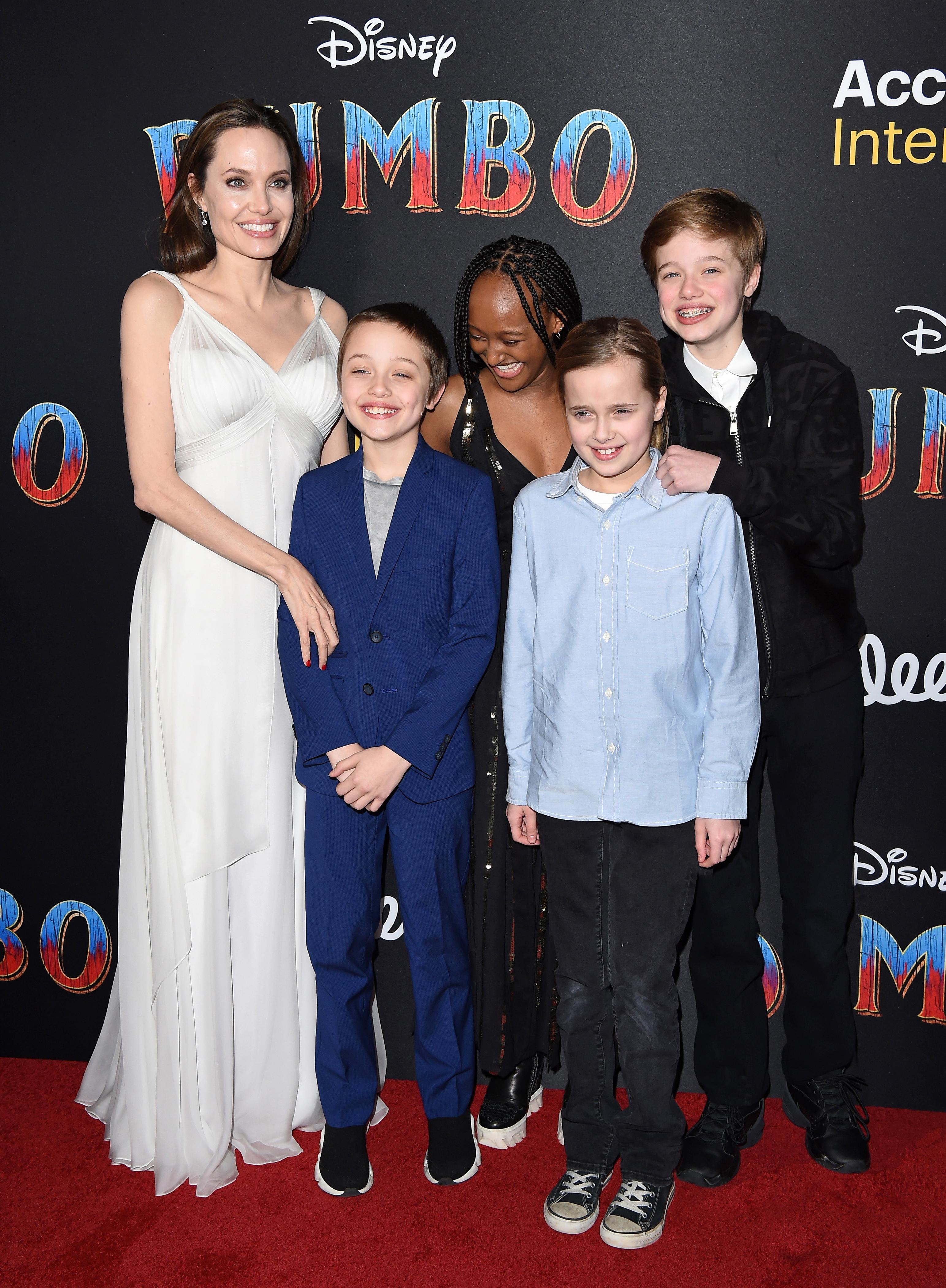 Angelina Jolie, Knox Leon Jolie-Pitt, Zahara Marley Jolie-Pitt