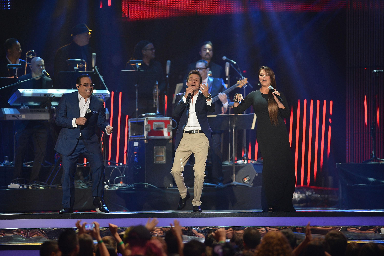 Marc Anthony, Gilberto Santa Rosa y Olga Tañon