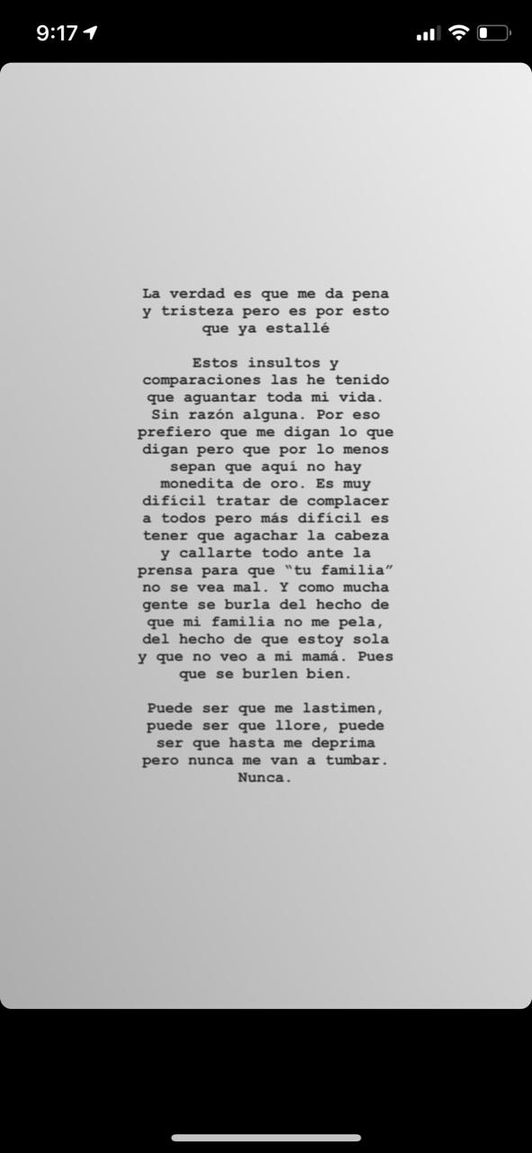 Frida Sofia/InstaStory