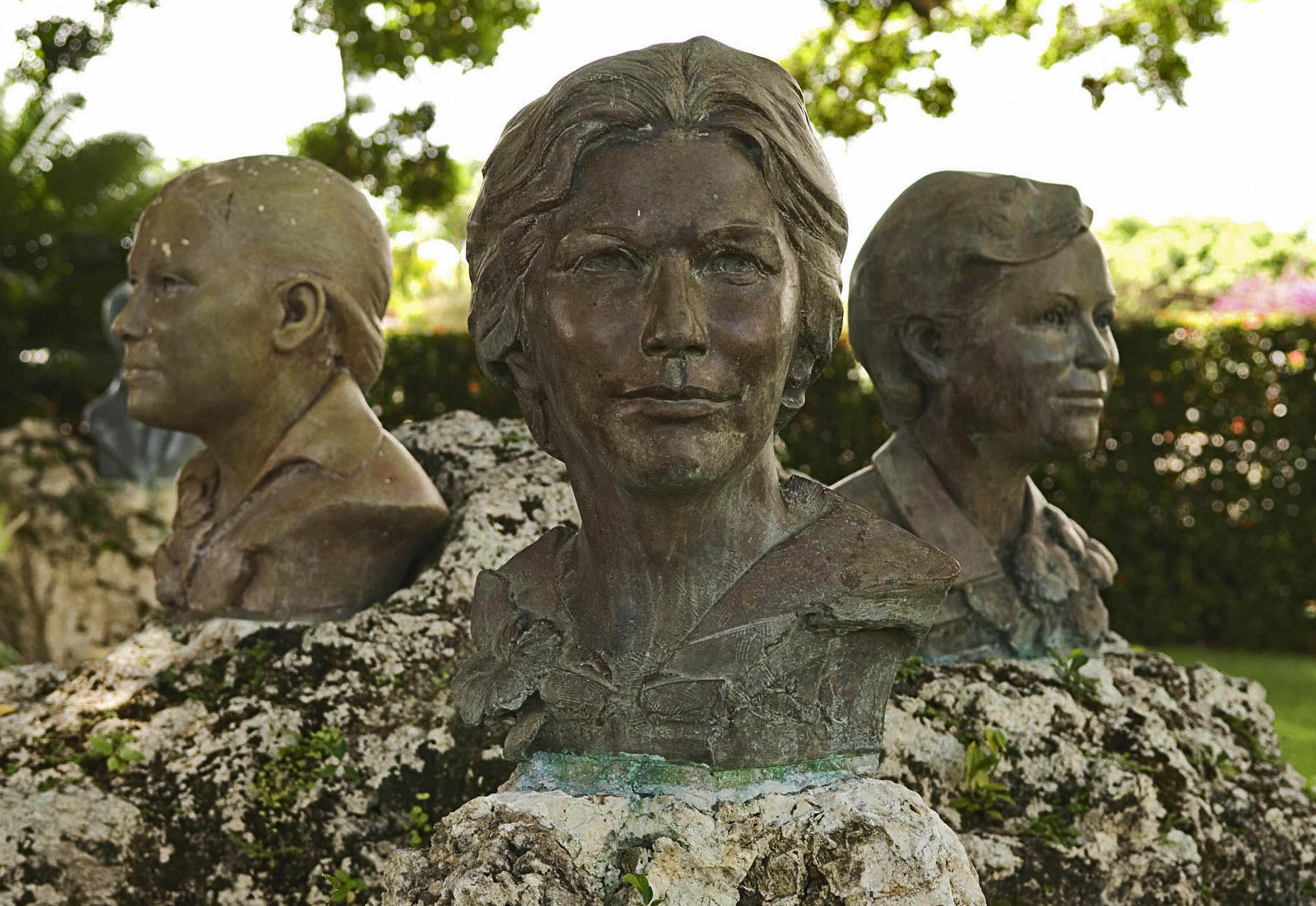 Busts of the Mirabal sisters at the muse