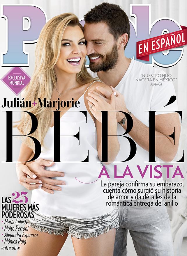 Marjorie de Sousa y Julián Gil en la portada de Octubre de People En Español