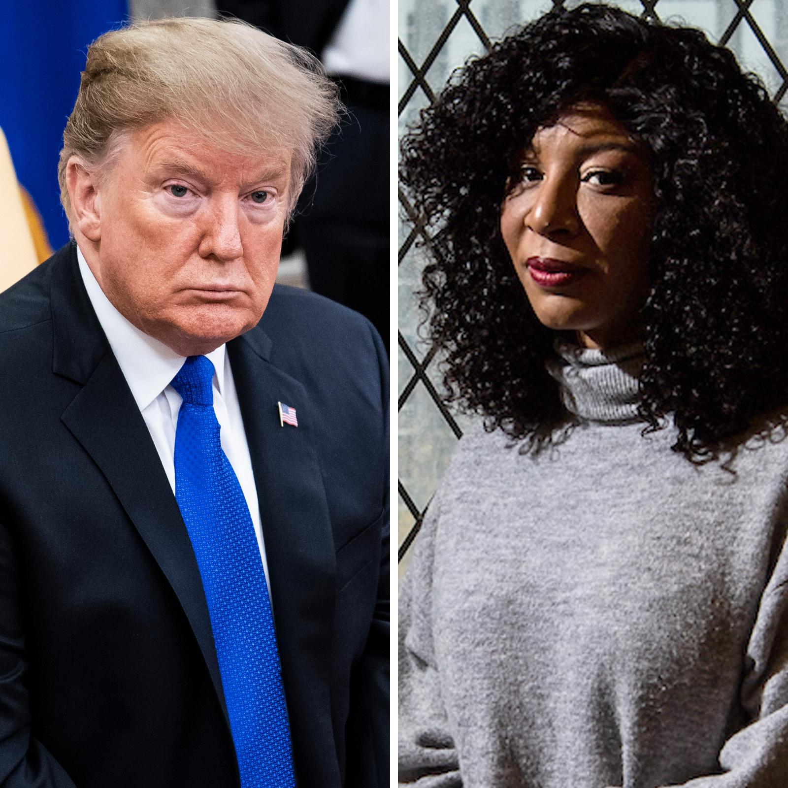 Trump and Alva Johnson