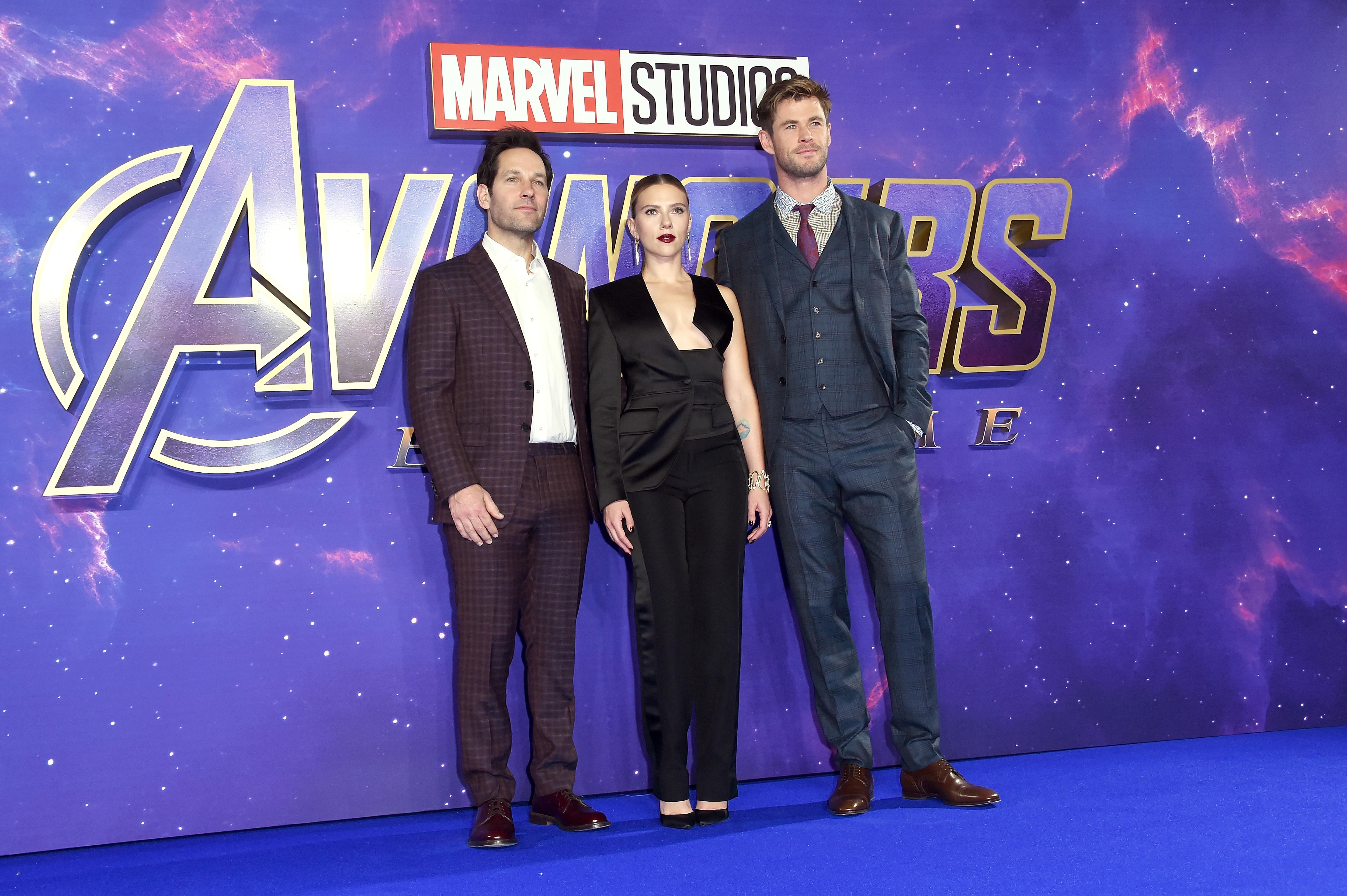 Scarlett Johansson, Chris Hemsworth, Paul Rudd