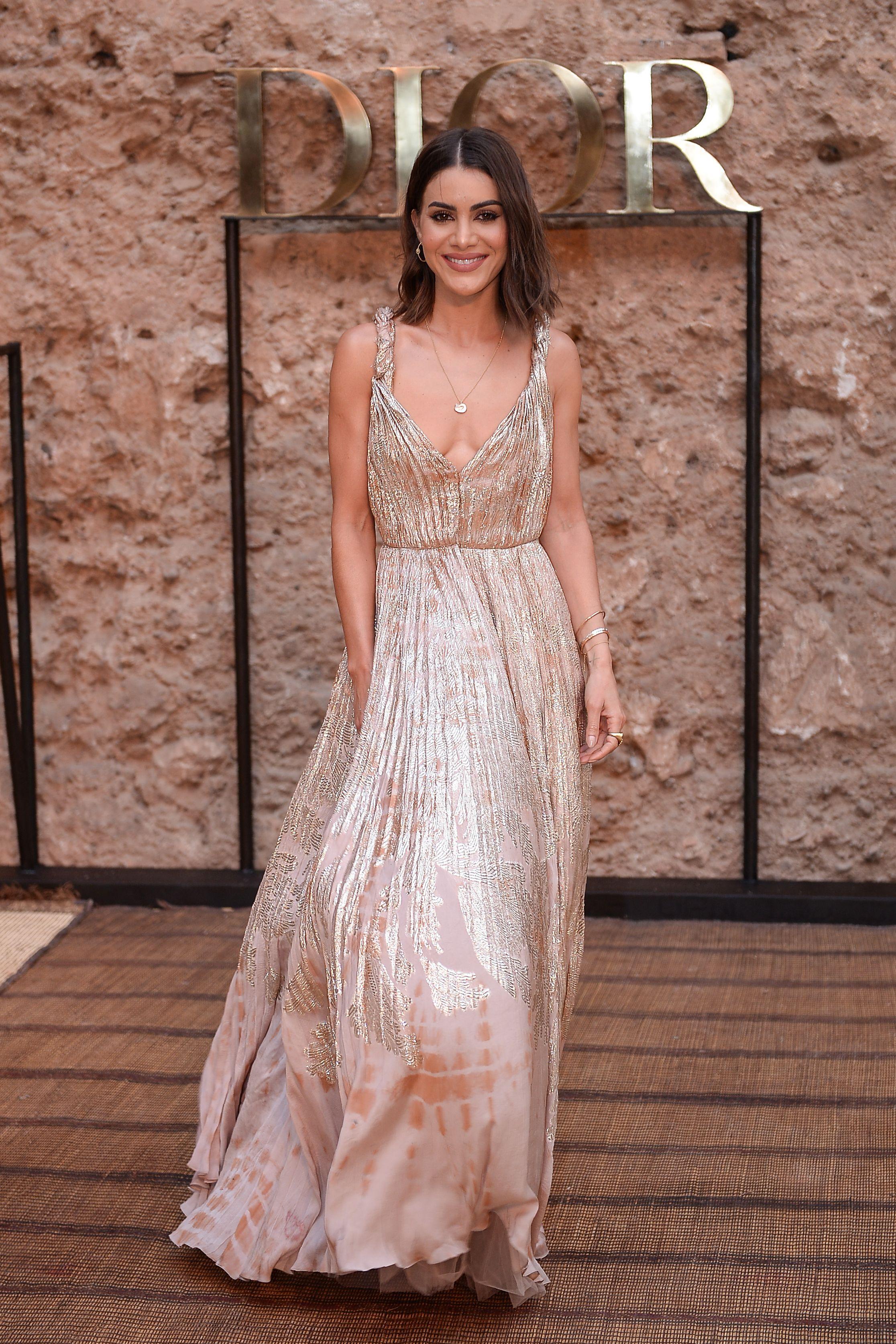 famosa, look, vestido, Dior, estilo, alfombra roja