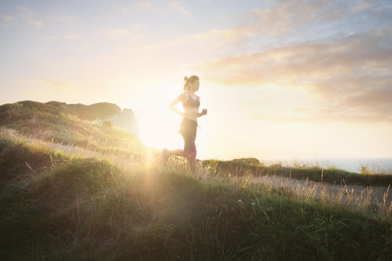 verano, ejercicio, correr