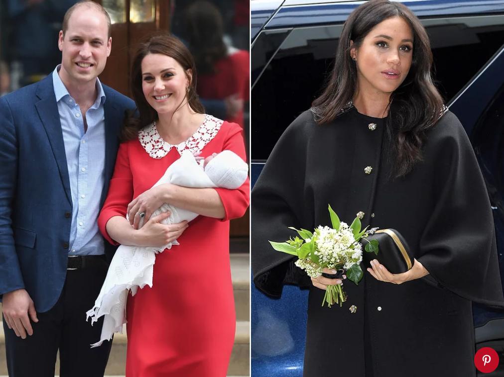Prince William, Kate Middleton and Prince Louis; Meghan MarkleKarwai Tang/WireImage; Karwai Tang/WireImage