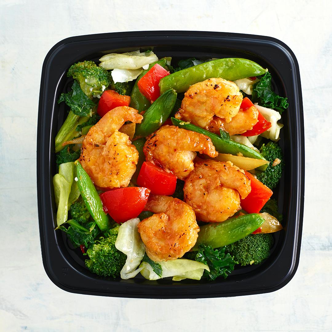 Work Fired Shrimp with Vegetables