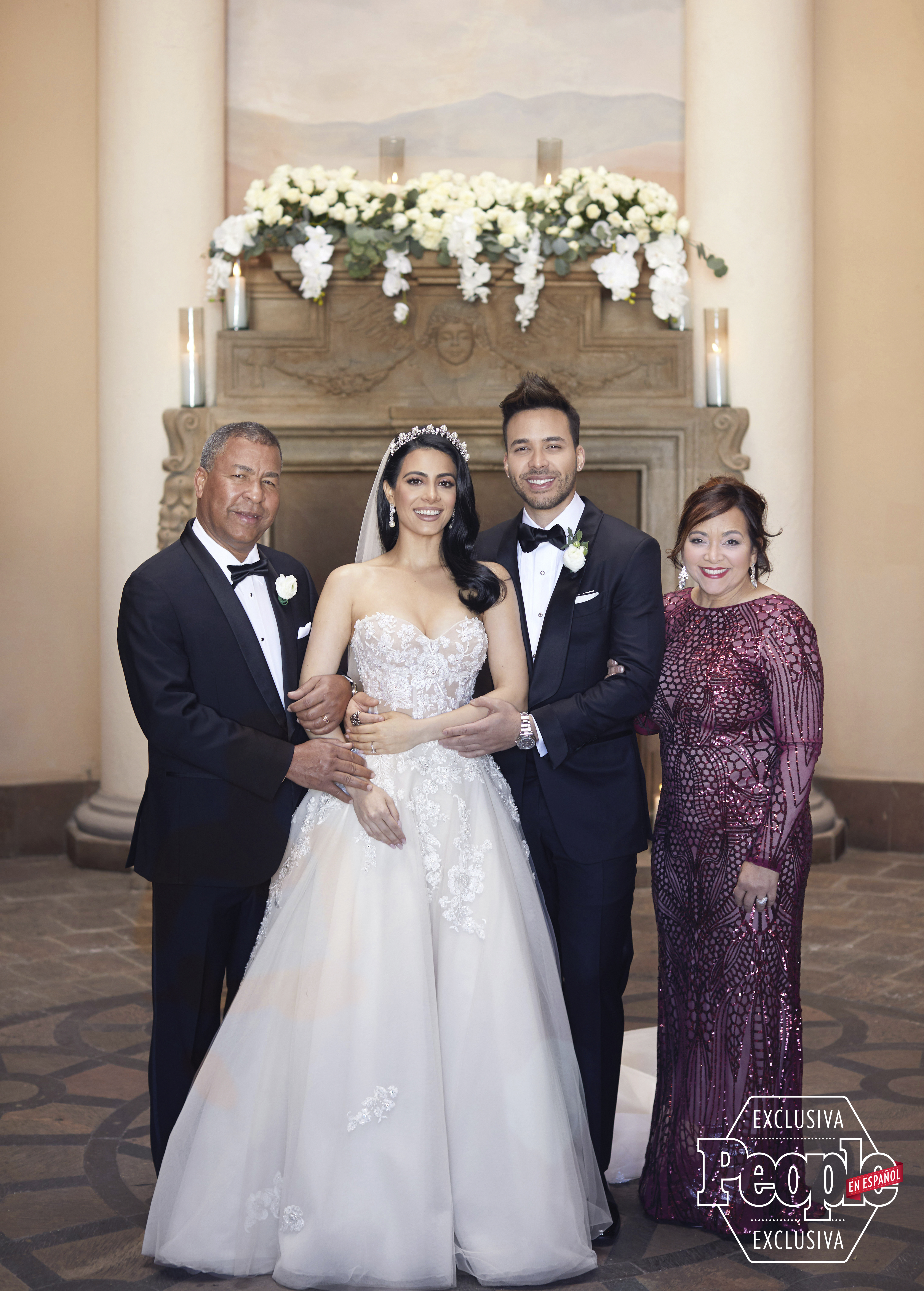 Prince Royce y Emeraude Toubia boda