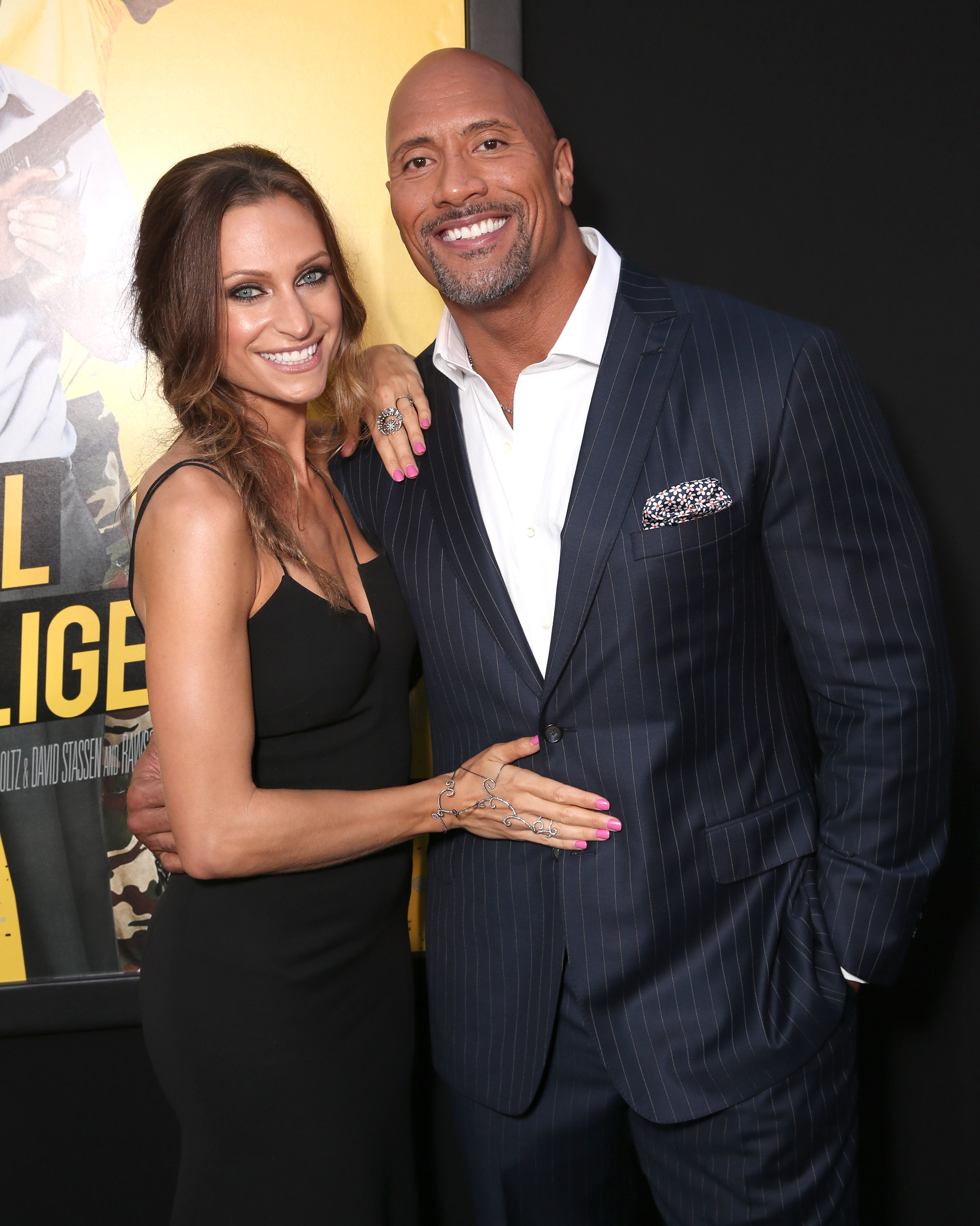 "Dwayne ""The Rock"" Johnson con Lauren Hashian"