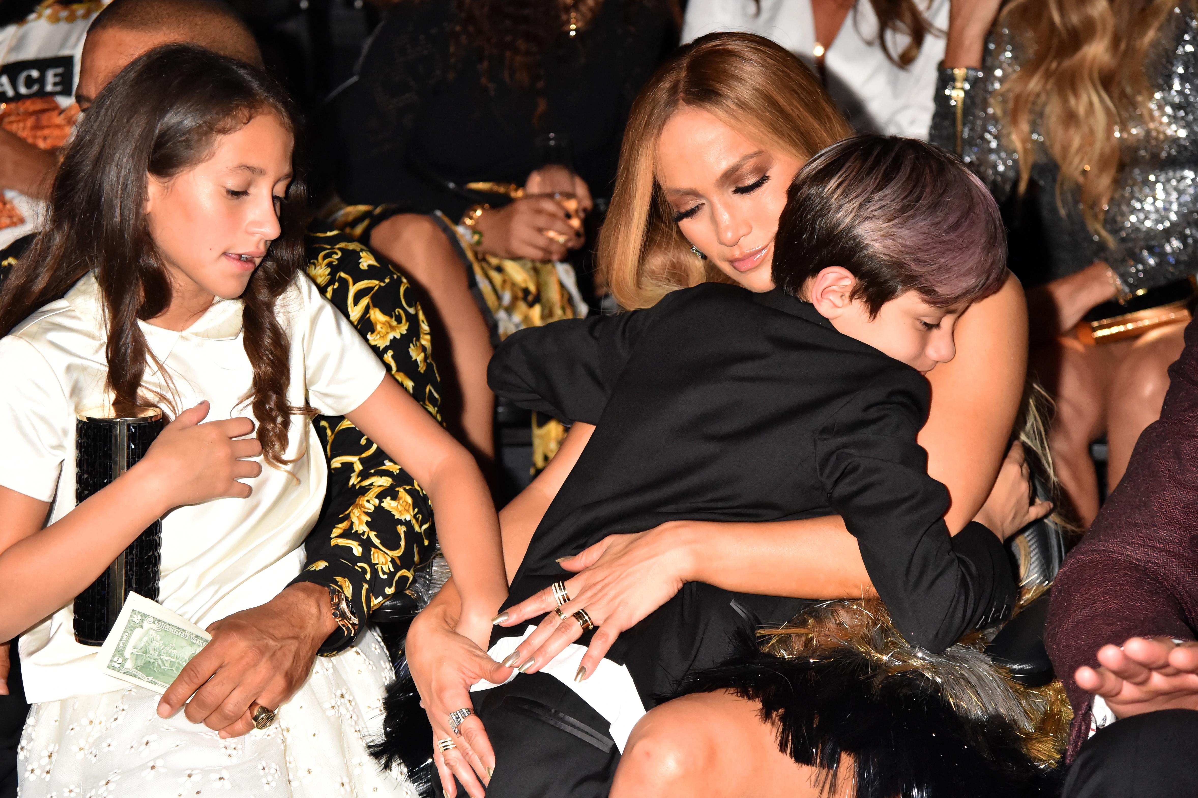 Emme Muniz, Jennifer Lopez, and Maximilian Muniz