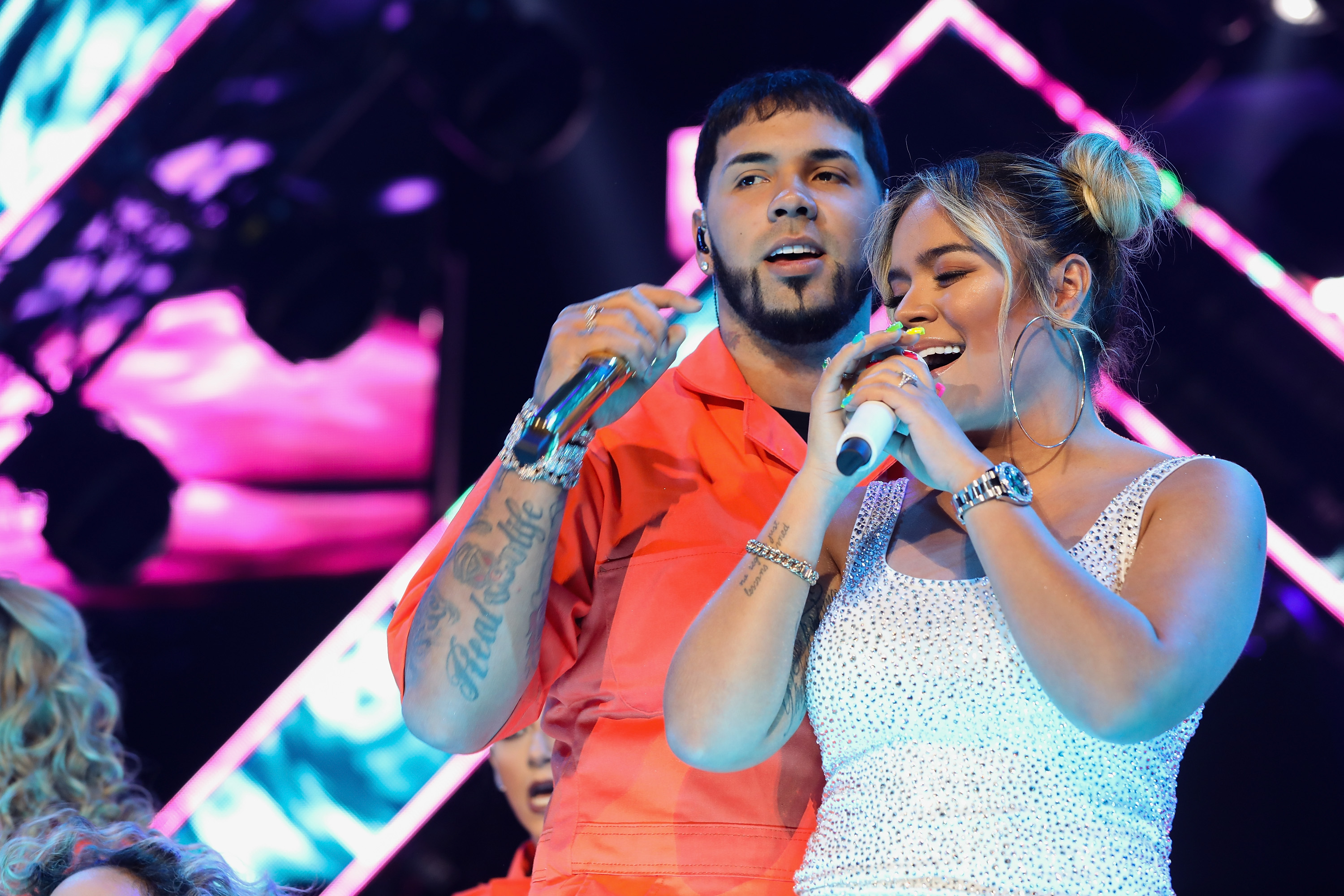 Karol G And Anuel AA Concert In Mexico