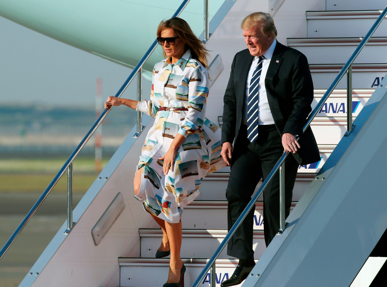 Melania Trump, looks, tour, japon