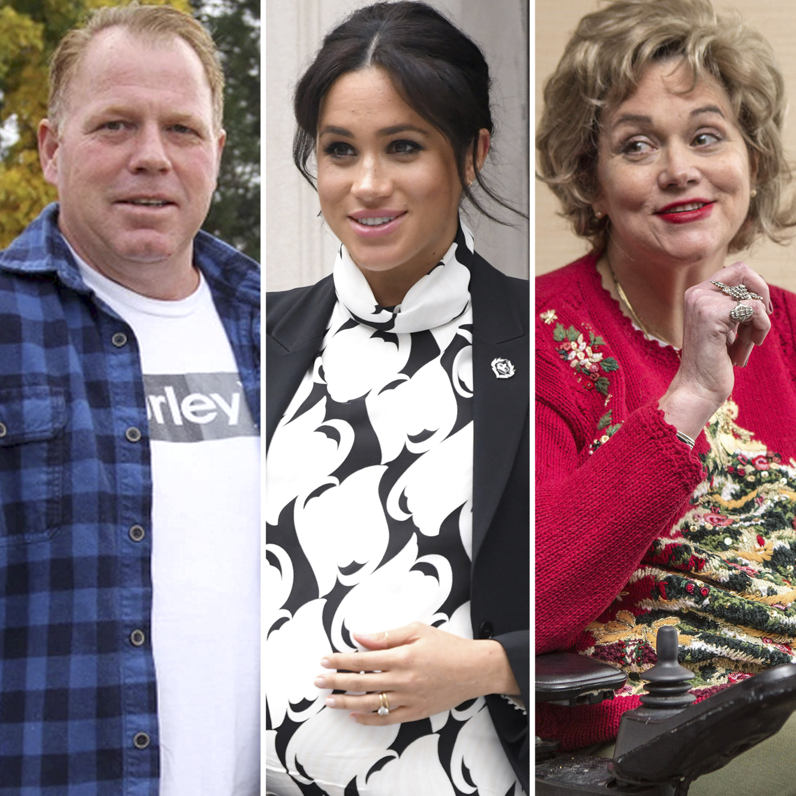 Thomas Jr., Meghan y Samantha Markle
