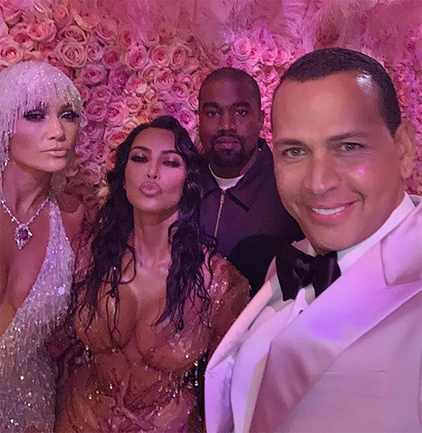 Kanye West, Kim Kardashian, Jennifer López, Alex Rodríguez