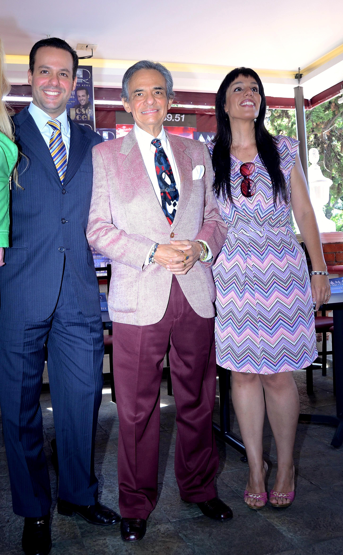 José José con su hijo José Joel y su hija Marisol