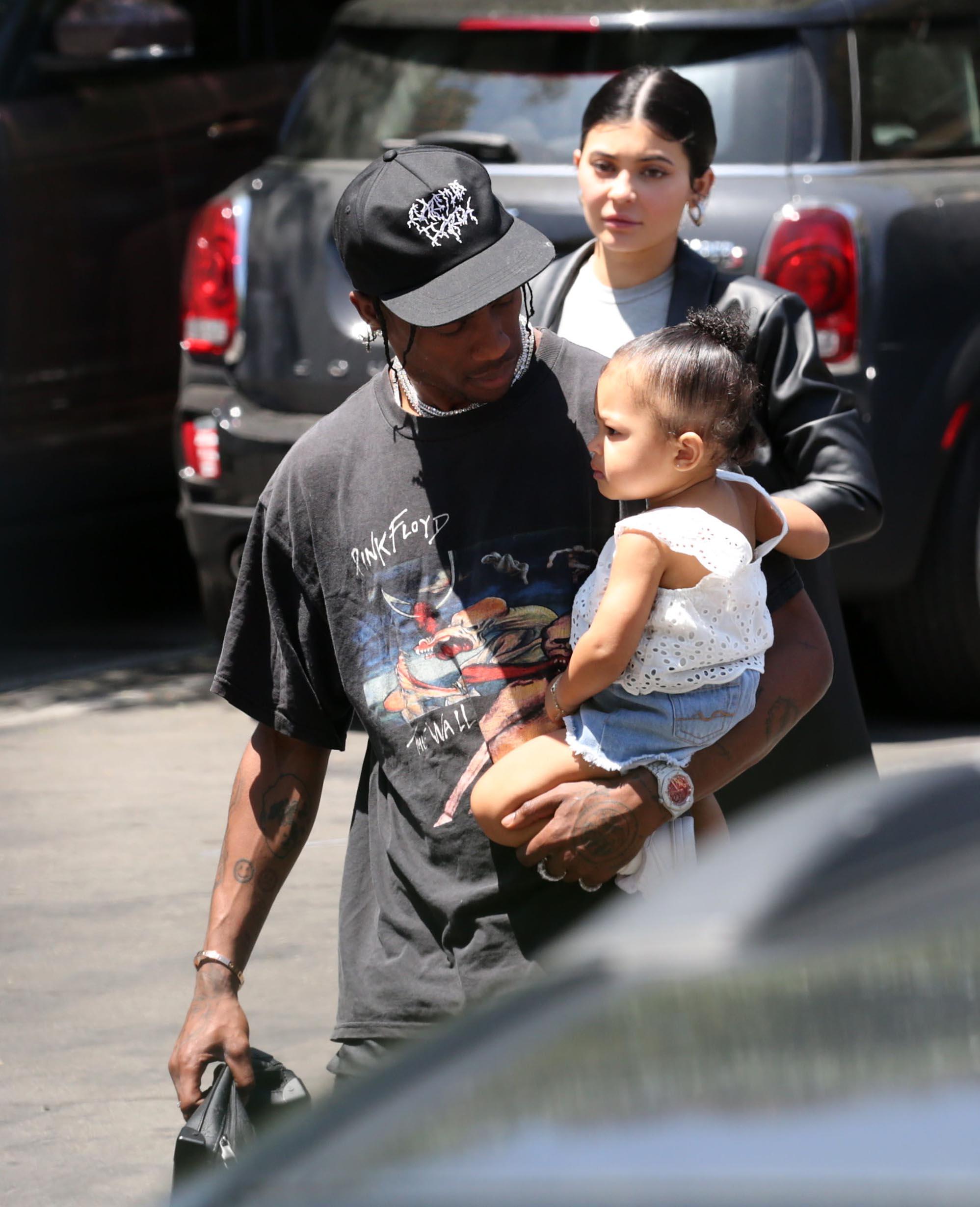 Kylie Jenner , Travis Scott , Stormi.