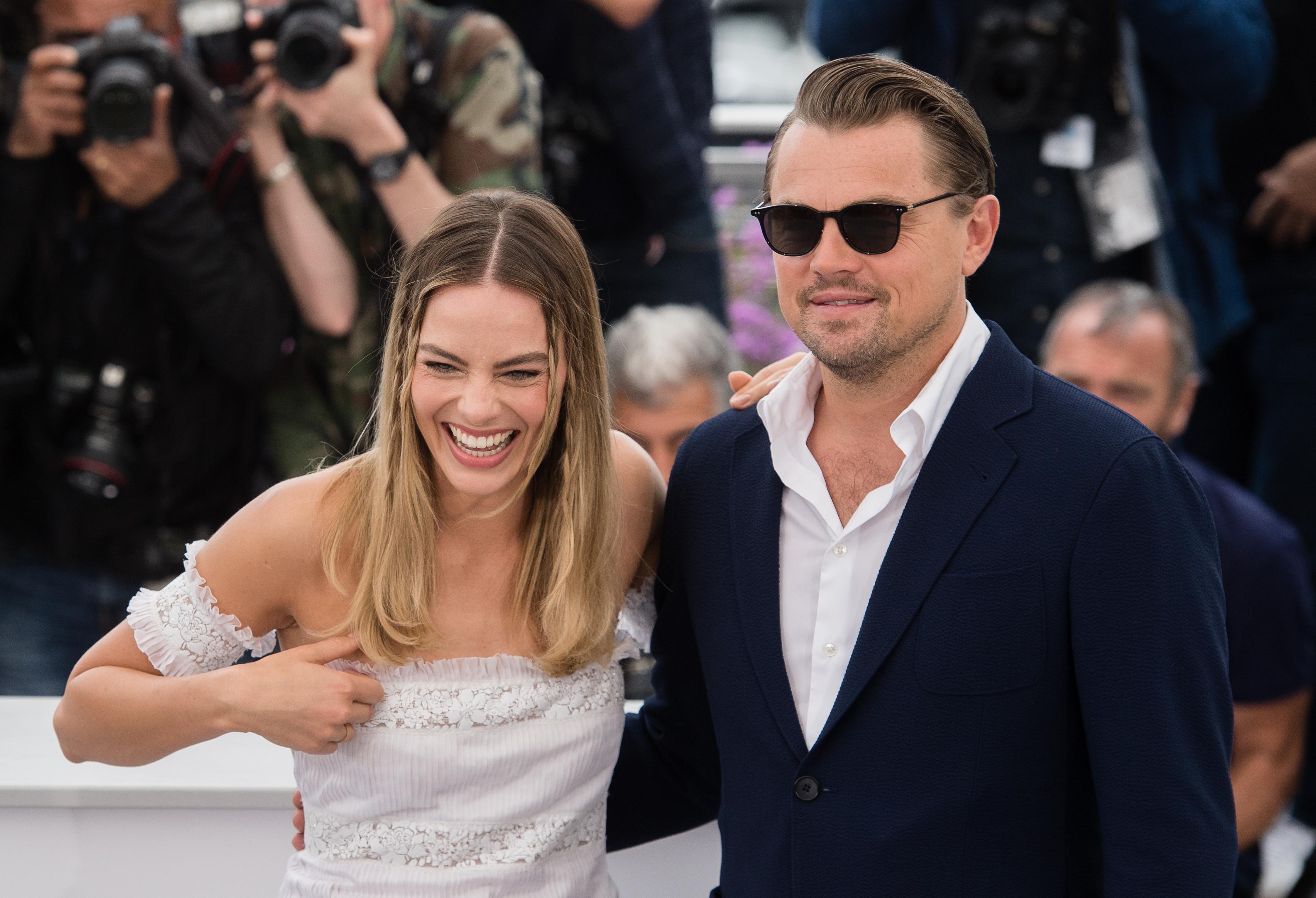 Margot Robbie Leonardo DiCaprio