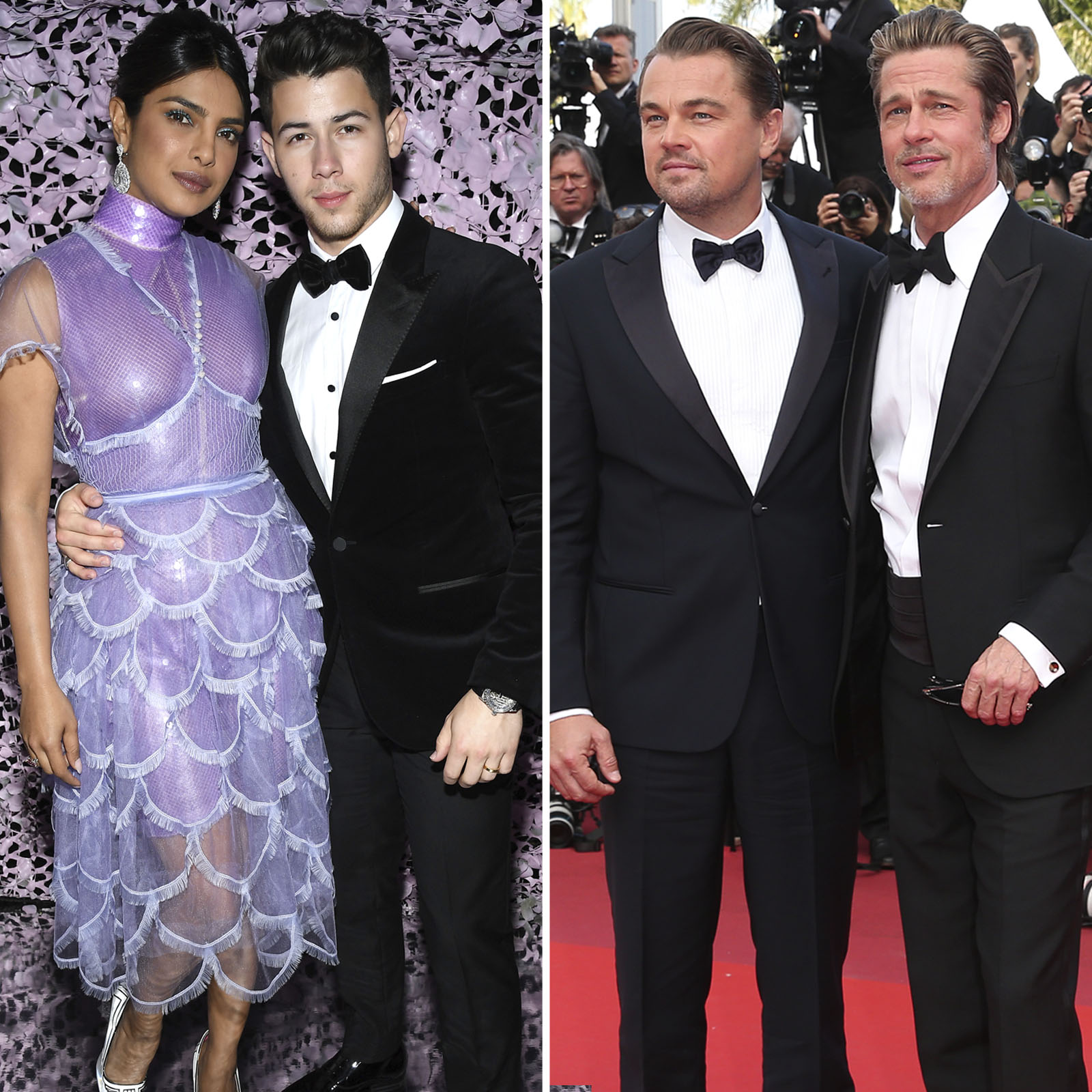 Priyanka Chopra y Nick Jonas y Leonardo DiCaprio y Brad Pitt