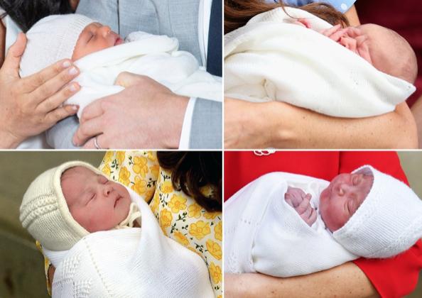Clockwise: Baby Sussex, Prince George, Princess Charlotte and Prince LouisDominic Lipinski/PA Wire; Peter Macdiarmid/Getty; John Stillwell - WPA Pool/Getty (2)